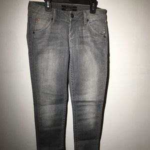 Women's Hudson classic gray skinny jeans size 24